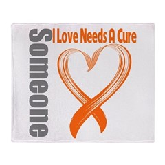 Leukemia Needs A Cure Throw Blanket