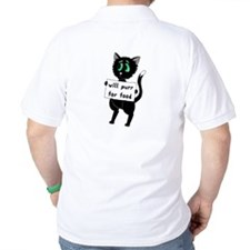 Will Purr For Food T-Shirt