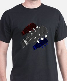 red white and blue headstock T-Shirt