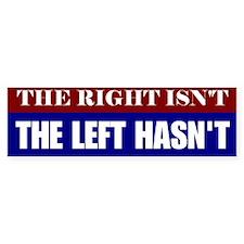 The Left Hasn't Bumper Car Sticker
