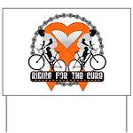 Leukemia Ride For A Cure Shir Yard Sign