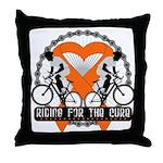 Leukemia Ride For A Cure Shir Throw Pillow