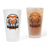 Leukemia Ride For A Cure Shir Drinking Glass