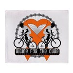 Leukemia Ride For A Cure Shir Throw Blanket