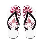 Namaste Tattoo in Ruby Red Flip Flops