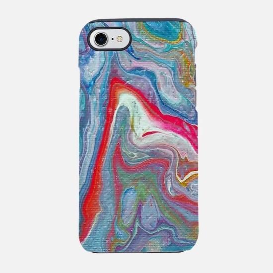 Acrylic Pour 3 iPhone 7 Tough Case