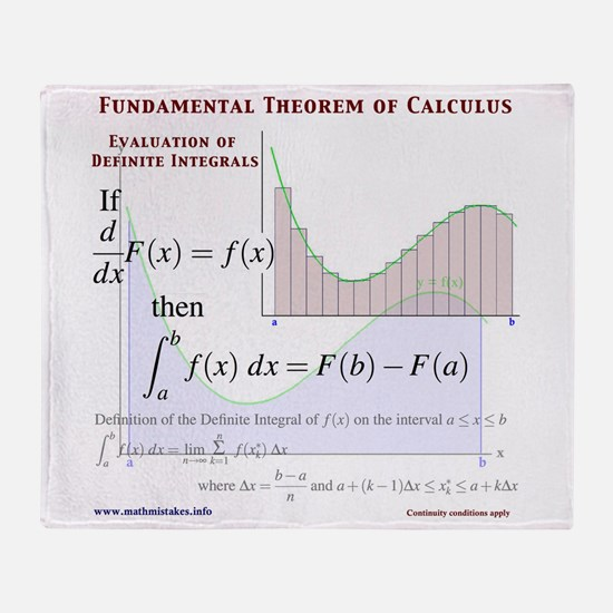 Fundamental Theorem of Calculus Throw Blanket