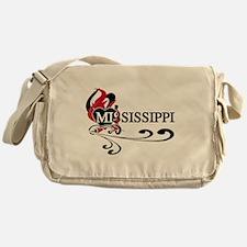 Heart Mississippi Messenger Bag