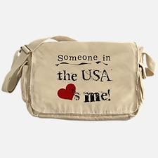 USA Loves Me Messenger Bag