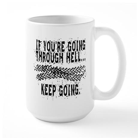 Going Through Hell - Cyclist Large Mug