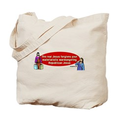 The Real Jesus Forgives Your Tote Bag