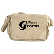 Future Groom Black Messenger Bag