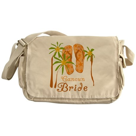 Tropical Cancun Bride Messenger Bag