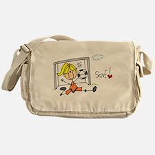 Girl Soccer Goalie Messenger Bag