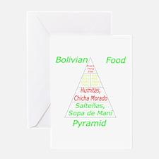 Bolivian Food Pyramid Greeting Card