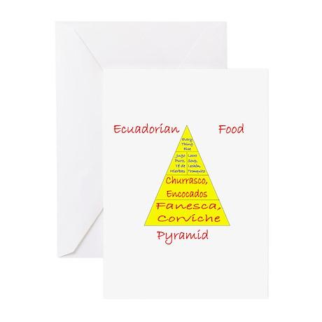 Ecuador Food Pyramid Greeting Cards (Pk of 10)