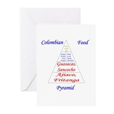 Colombian Food Pyramid Greeting Cards (Pk of 10)