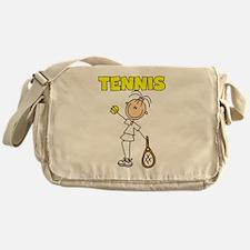 TENNIS Girl Stick Figure Messenger Bag