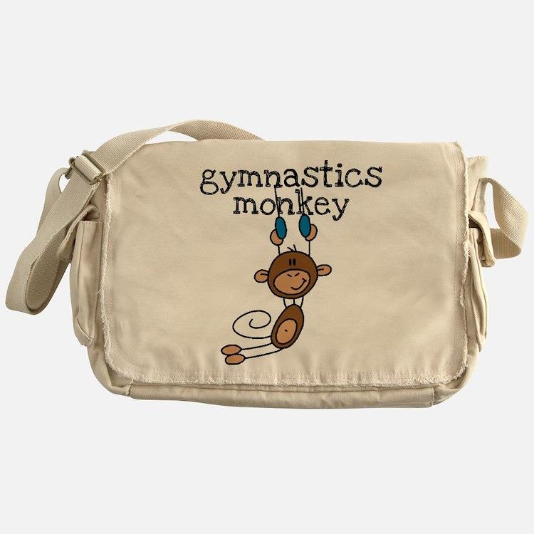 Gymnastics Monkey Messenger Bag