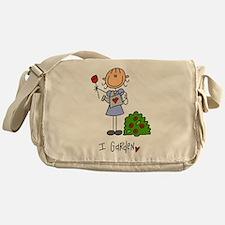 I Garden Stick Figure Messenger Bag