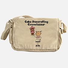 Female Cake Decorator Messenger Bag