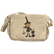 Witch and Cat Messenger Bag