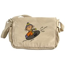 Snow Tubing Messenger Bag