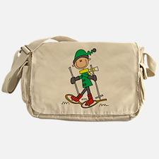 Winter Snowshoeing Messenger Bag