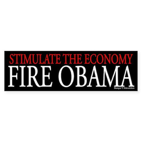 Fire Obama Sticker (Bumper)