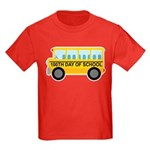 School Bus 100th Day of School Kids Dark T-Shirt