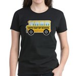 School Bus 100th Day of School Women's Dark T-Shir