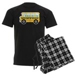 School Bus 100th Day of School Men's Dark Pajamas