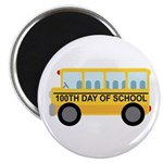 "School Bus 100th Day of School 2.25"" Magnet (10 pa"