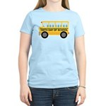School Bus 100th Day of School Women's Light T-Shi