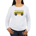 School Bus 100th Day of School Women's Long Sleeve