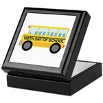School Bus 100th Day of School Keepsake Box