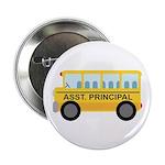 """Assistant Principal School Bus 2.25"""" Button (10 pa"""