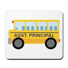 Assistant Principal School Bus Mousepad
