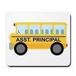 Assistant Principal School Bus Mousepad