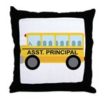 Assistant Principal School Bus Throw Pillow