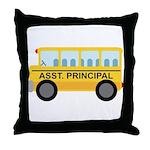 Assistant Principal School Bus Throw Pillow