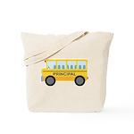 Principal School Bus Tote Bag
