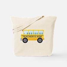 Teacher's Aide School Bus Tote Bag