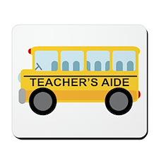 Teacher's Aide School Bus Mousepad