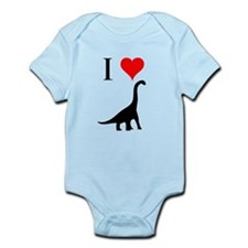 I Love Dinosaurs - Brachiosau Infant Bodysuit
