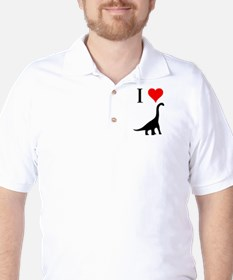 I Love Dinosaurs - Brachiosau Golf Shirt