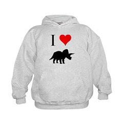 I Love Dinosaurs - Triceratop Hoodie
