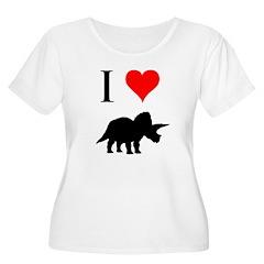 I Love Dinosaurs - Triceratop T-Shirt