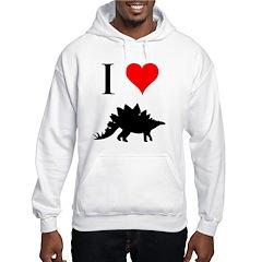I Love Dinosaurs - Stegosauru Hoodie