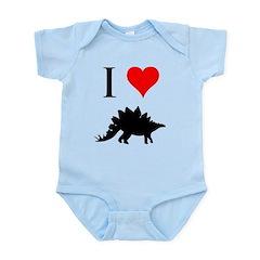 I Love Dinosaurs - Stegosauru Infant Bodysuit